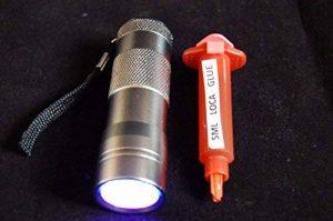 12 LED UV TORCHE et 5ML LOCA COLLE COMPATIBLE AVEC IPHONE ,SAMSUNG ,HTC de la marque xx image 0 produit