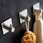 4 Pièces Crochet Adhésif, Aikzik 8kg Max Crochet Mural de Salle de Bains En Acier Inox, Porte Serviette Avec 3M Scotch Adhésif, Famille et Bureau, Auto-Adhesif de la marque Aikzik image 4 produit