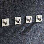 4 Pièces Crochet Adhésif, Aikzik 8kg Max Crochet Mural de Salle de Bains En Acier Inox, Porte Serviette Avec 3M Scotch Adhésif, Famille et Bureau, Auto-Adhesif de la marque Aikzik image 3 produit