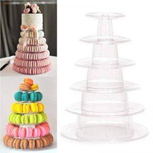 6étages Pro ronde Macaron Tour gâteau Nourriture support présentoir Rack pour mariage anniversaire de la marque Bluesees image 0 produit
