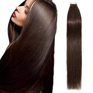 """Adhesive Extension 100% Human Hair [2.5g * 20 Mèches ] Sans Shedding/Tangle/Noeud (20""""=50cm, 50g) [ 04#Marron Chocolat ] de la marque Lady Outlet Mall image 0 produit"""