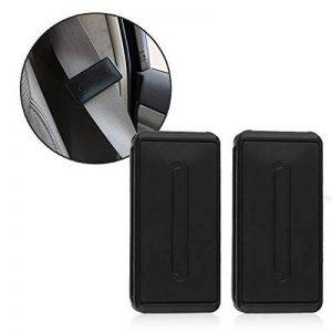 Agrafe de ceinture de sécurité pour adulte, régleur de tension de ceinture de sécurité TUPSKY pour relaxer le cou, le visage ou la poitrine (paquet de 2, noir) de la marque TUPSKY image 0 produit