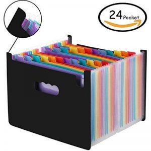 Amaza Trieur 24 Compartiments A4 Accordeon, Trieur à Soufflets, Boite Archivage Classeur, Porte-documents, Expanding File Folder (Multicolore) de la marque Amaza image 0 produit