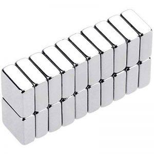 Anpro 20PCS Aimant Neodyme Carré de 10mm x 10mm x 4mm Traction Puissante pour Tableaux Blancs,Réfrigérateur,Tableau Magnétique de la marque Anpro image 0 produit