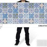Autocollant pour Carreaux de Ciment - Adhésif Sticker en PVC   Décalque de Mur - Revêtement Mural Salle de Bain et Cuisine  Tuiles décalcomanies   Design Classique   15x15 cm (40 piéces) de la marque creatisto image 3 produit