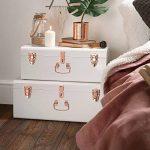 Beautify Set de 2 Coffres Malles de Rangement en Métal Vintage – Blanc de la marque Beautify image 1 produit