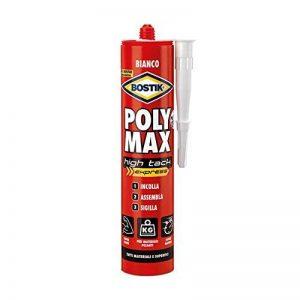 Bostik Poly Max High Tack Express d6118, colle de montage et d'étanchéité universel, 435gr, blanc de la marque Bostik image 0 produit