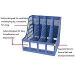 Boîte De Rangement Module De Classement En Polypropylène Rangement de Dossiers Classement de Magazine Document Stockage Pour Bureau Classeur Papier A4 X 4 Compartiments de la marque LY image 3 produit