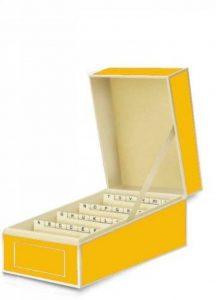 boîte pour cartes de visite jaune soleil +++ pour ARCHIVER LES CARTES DE VISITE +++ qualité originale Semikolon de la marque SEMIKOLON image 0 produit