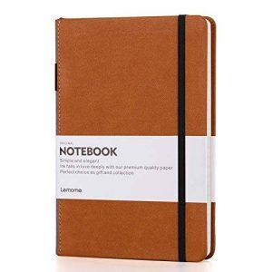 Bullet Journal/Carnet Pointillé - Lemome Dotted Sketchbook avec Papier épais Premium - Diviseurs Cadeaux, A5, 8,4 x 5,7 pouces (Marron) de la marque Lemome image 0 produit