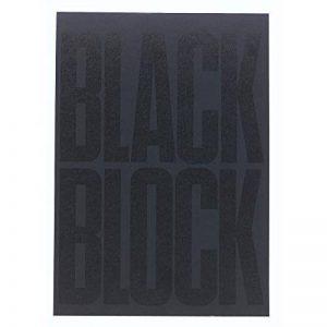 Carnet black block 29,7x21cm - papier jaune quadrille 5x5-70 feuillets de la marque Exacompta image 0 produit