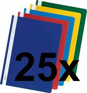 Chemises en film PP en plastique Falken pour DIN A4avec reliure commerciale 25 Stück couleurs assorties de la marque FALKEN image 0 produit
