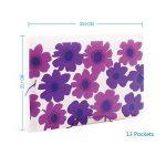 Comix Trieurs à soufflet 13 Compartiments A4 Motif de fleurs d'été -A1361 ( Violet ) de la marque Comix image 1 produit