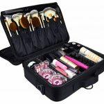 DCCN Train Malette de Maquillage Professionnel Beauty Case 3 Couche, Coffret Sac Trousse Cosmétique Organiseur pour Pinceaux de Maquillage Vernis à Ongles 34.5cmX24cmX11cm de la marque DCCN image 1 produit