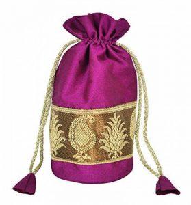 Designer sac soie Bijoux & monnaies Pochettes cadeau de mariage de la marque Lalhaveli image 0 produit