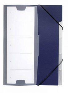 Durable 247507 Chemise Trieur 5 Onglets Touche Neutre - Fermeture par Elastiques en Coin - Grand Porte - Etiquette en Couverture - Polypro Coloris Bleu Foncé de la marque Durable image 0 produit