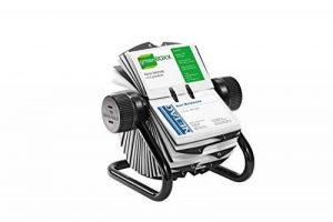 Durable 248101 Visifix Rotatif Fichier pour 400 Cartes de Visite avec Index 25 Touches Noir de la marque Durable image 0 produit