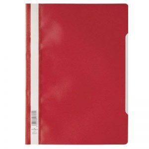 Durable 257303 Chemise à Lamelles Format A4 avec Couverture Transparent Dos Rouge Lot de 50 de la marque Durable image 0 produit