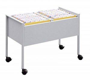 Durable 308223 Desserte Mobile pour 100 Dossiers Suspendus Format A4 Dimensions (L x H x P) 76 x 59,2 x 42,5 cm Finition Métal Argent Métallisé de la marque Durable image 0 produit
