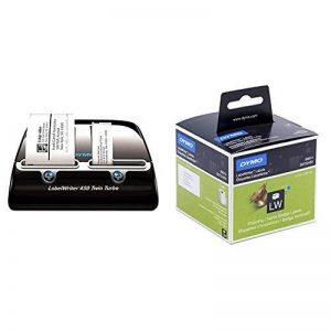 Dymo LabelWriter Twin Turbo Imprimante d'Étiquettes USB + Grandes Etiquettes LW pour Adresses et Badges Nominatifs, 101 mm x 54 mm (Cassette de 220), Impression en Noir sur Fond Blanc de la marque DYMO image 0 produit