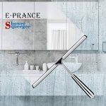 E-PRANCE Raclette de Douche Actualisé Raclette vitre Raclette de ménage en Acier Inoxydable Salle de Bain Miroir Fenêtres Voitures sans perçage Installation, 18 x 25 cm de la marque E-PRANCE image 1 produit