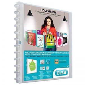 Elba - 100205600 - Polyvision Variozip Protège-Documents Personnalisable à Pochettes Amovibles 40 Vues Polypropylène Translucide A4 Incolore de la marque Elba image 0 produit