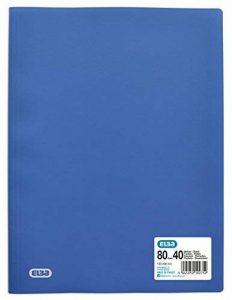 Elba - 100206241 - Initial Protège-Documents Souple 80 Vues Polypropylène Opaque A4 Bleu de la marque Elba image 0 produit