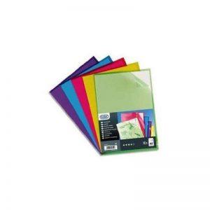 Elba - 100210494-10 Pochettes-Coin Haute Résistance PVC A4 Lisse Couleurs Assorties de la marque Elba image 0 produit