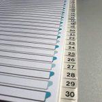 Elba 400011420Intercalaires Intercalaires pour DIN A4papier cartonné chiffres 1–3131pièces teildeckend Gris clair Carton Classeur à anneaux de bague Classeur Agrafeuse Ange bleu de la marque Elba image 1 produit