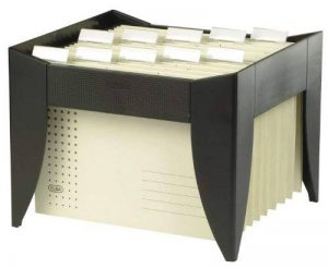 Elba 84410 Go-Fix 1000 Caisse de rangement pour dossiers suspendus livrée avec 5 dossiers suspendus Noir de la marque Elba image 0 produit