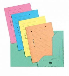 Elba Pack de 10 chemises HV Ultimate 2 rabats A4 kraft assortis pastel de la marque Elba image 0 produit