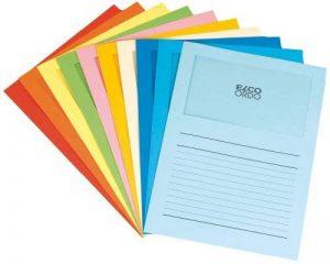 ELCO Ordo Classico Chemise de classement avec fenêtre 120 g/m² Chemise 220 mm x 310 mm, fenêtre 180 mm x 100 mm Boîte de 100 (10 x 10 couleurs assorties) (Import Royaume Uni) de la marque ELCO image 0 produit
