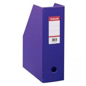 ESSELTE Lot de 10 Boîtes à pan coupé Porte-revues PVC dos 10 cm Livré à plat Violet de la marque Esselte Group image 0 produit