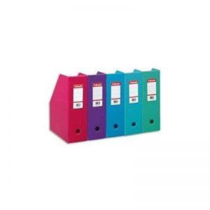 ESSELTE Lot de 10 Porte-revues en PVC soudé , dos de 10 cm coloris aléatoire de la marque Esselte Group image 0 produit