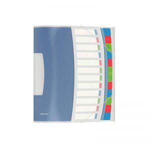 Esselte Trieur A4, Translucide, Index Intégré à 12 Onglets, Contient jusqu'à 200 Feuilles, Fermeture Élastique, Blanc, VIVIDA, 624030 de la marque Esselte Group image 0 produit