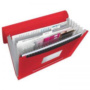 Esselte Vivida Trieur à Soufflet 6 Compartiments - Rouge de la marque Esselte Group image 0 produit