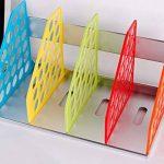 Etagère De Rangement Table Multi-Couches Module De Classement DIY En Plastique Pour Bureau Salle d'étude Classeur Papier Dossier Magazine Livre 381 * 217 * 212mm-Multicolore de la marque RUIXIA image 3 produit
