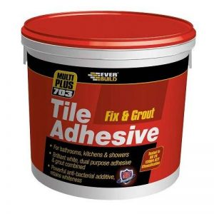 Everbuild FIX02 Fix and Grout 703 Colle pour carrelage 2,5 L 3,75 kg de la marque Everbuild image 0 produit
