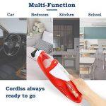 EVERTOP Mini Aspirateur portable sans fil et sans sac Aspirateur à main léger pour voiture Aspirateur de table Rouge (1500 PA) de la marque EVERTOP image 2 produit