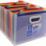 EXACOMPTA 55198E - Un Trieur valisette extensible CRYSTAL 33x23,5x25 cm avec poignée de 24 compartiments en polypro multicolore de la marque Exacompta image 2 produit