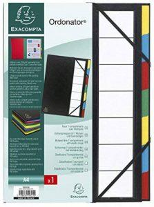 Exacompta 55321E Ordonator Trieur Rigide Ordonator 7 Compartiments Dos Extensible Noir de la marque Exacompta image 0 produit