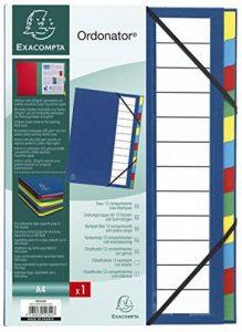 Exacompta 55342E Ordonator Trieur de Bureau Rigide 12 Compartiments Bleu de la marque Exacompta image 0 produit