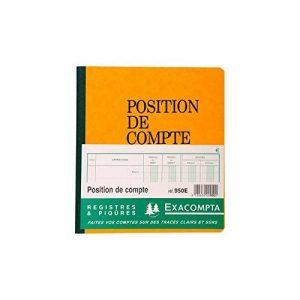 Exacompta - 950E - Registres et Piqures - Position de Compte - 80 Pages - Aleatoire de la marque Exacompta image 0 produit