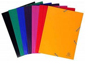 Exacompta Chemise à rabat avec élastique en polypropylène lot de 10 coloris assortis de la marque Exacompta image 0 produit