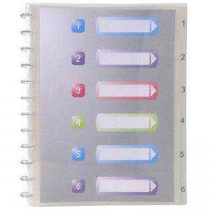Exacompta - Réf. 86320E - Protège-documents amovibles à anneaux polypropylène Crystal 60 vues - A4 - transparent incolore de la marque Exacompta (EXAD0) image 0 produit