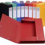 Exacompta - Réf. 19500H - Lot de 10 boites de classement livrées à plat Cartobox Dos 50mm Carte lustrée - A4 - couleurs assorties de la marque Exacompta image 1 produit