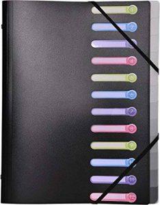 Exacompta - Réf. 55981E - Trieur 12 compartiments en polypropylène opaque - 24x32cm - noir de la marque Exacompta image 0 produit