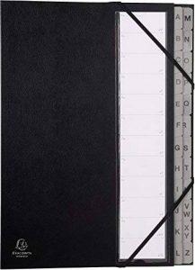 Exacompta - Réf 56090E - Un Trieur ALPHABETIQUE Ordenator à Élastique en Couverture Rigide 25,3x34 cm 24 Compartiments Noir de la marque Exacompta image 0 produit