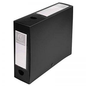 Exacompta - Réf 59831E - Une Boite Archive à Pression en Polypro Opaque Dos de 8 cm 25x33 cm 7/10ème Noir de la marque Exacompta image 0 produit