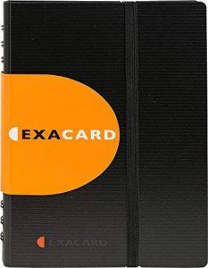 Exacompta - Réf. 75034E - Exacard Porte Cartes de Visite à Spirales Exactive - Capacité 120 Cartes - Polypropylène - Noir de la marque Exacompta image 0 produit